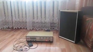 Моя  домашняя аудио система ( Электрон 104 стерео 1984 года  )