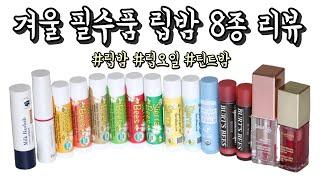 겨울 필수템 립밤 추천 8종 리뷰 | 버츠비 틴티드 립…
