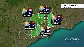 Previsão Grande São Paulo - Muito sol e calor