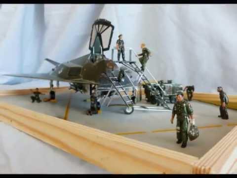 1:48 Academy F-117A Stealth Diorama - YouTube