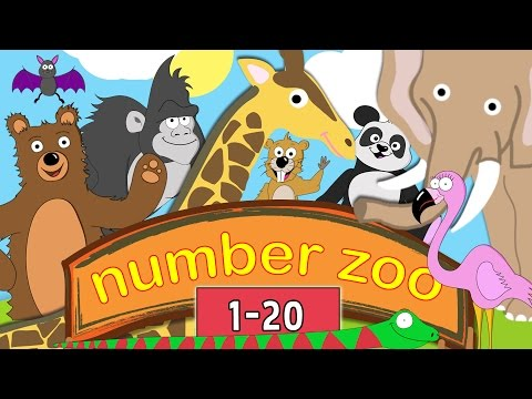 Learn to Count to 20 with Number Zoo | Toddler Fun Learning