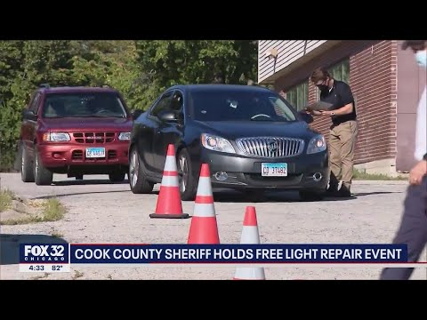 Cook County Sheriff holds free light repair event