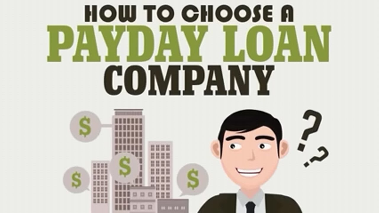 How To Choose A Payday Loan Company - YouTube