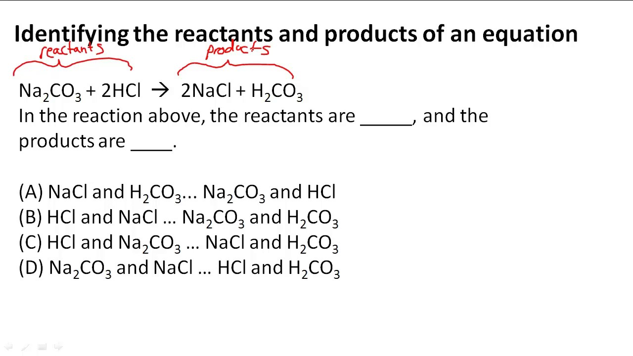 mass of the reactants and products Reacting masses in all chemical reactions, the total mass of reactants used is equal to the total mass of the products made.