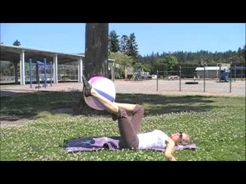 Beach Ball Fitness: Abs, Legs, Back, And Butt!