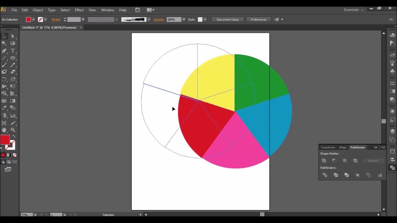 How To Divide A Circle Into Equal Parts And Make Color Wheel In