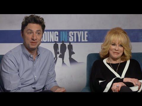 GOING IN STYLE: Backstage with Ann-Margret & Director Zach Braff