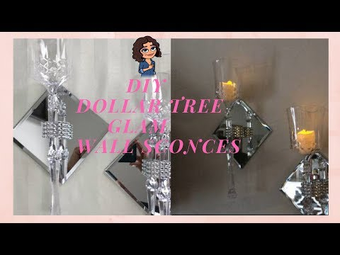 DIY DOLLAR TREE GLAM WALL SCONCES