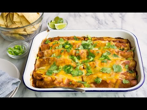 Enchilada Recipe with Chicken, Cheese and Spinach