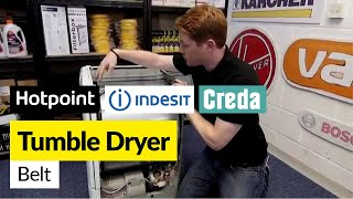 how to replace a condenser tumble dryer belt hotpoint indesit or creda