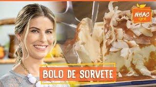 Bolo de sorvete com calda de caramelo e lascas de coco | Rita Lobo | Cozinha Prática