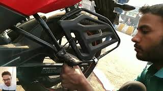 Ladies footrest installation in Honda hornet 160.Video by Vivo V5 plus