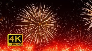Colorful Firework with Sounds. Screensaver (4K UltraHD)