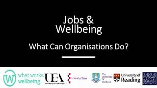 How can organisations improve job quality? A presentation by Professor Kevin Daniels