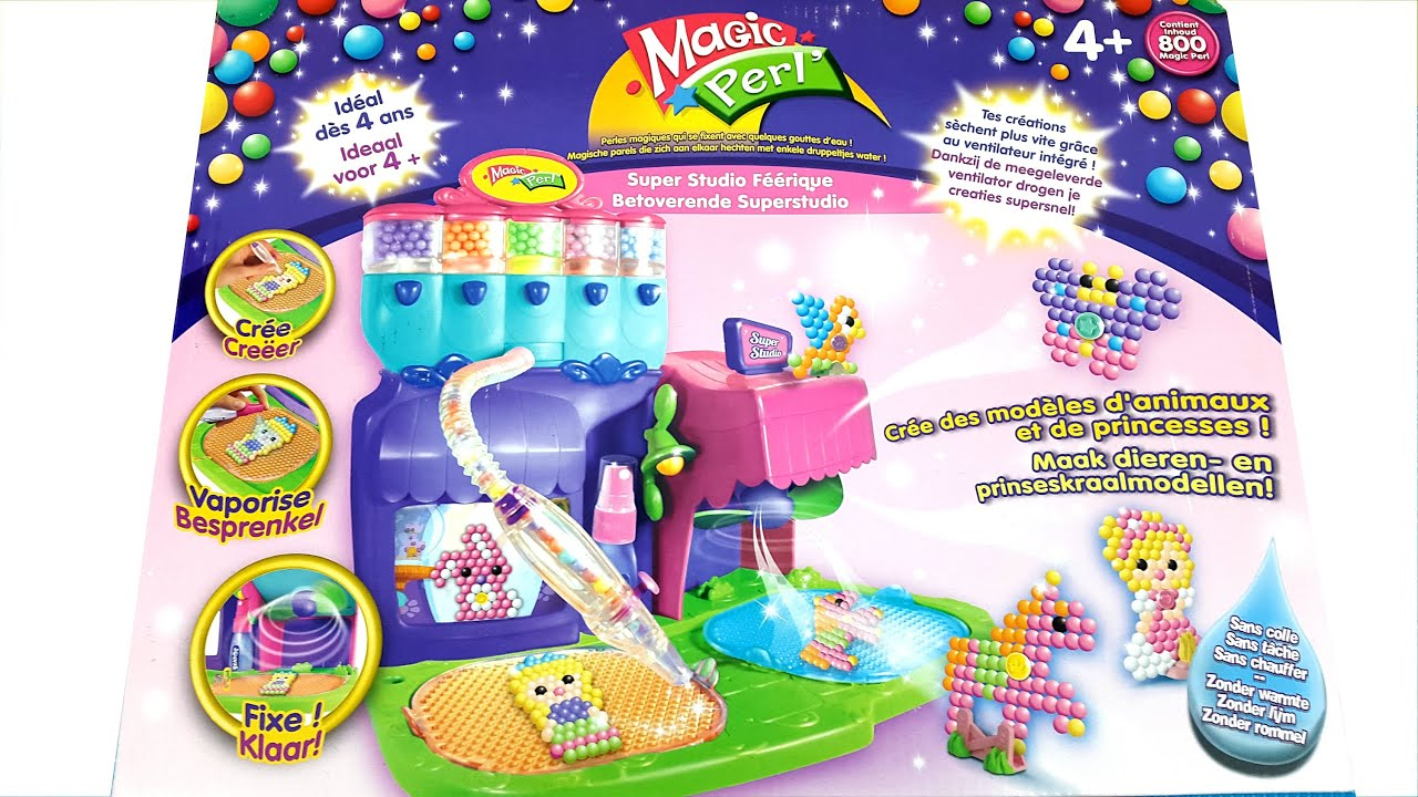 unboxing beados super magical studio playset creates models of animals and princesses youtube. Black Bedroom Furniture Sets. Home Design Ideas
