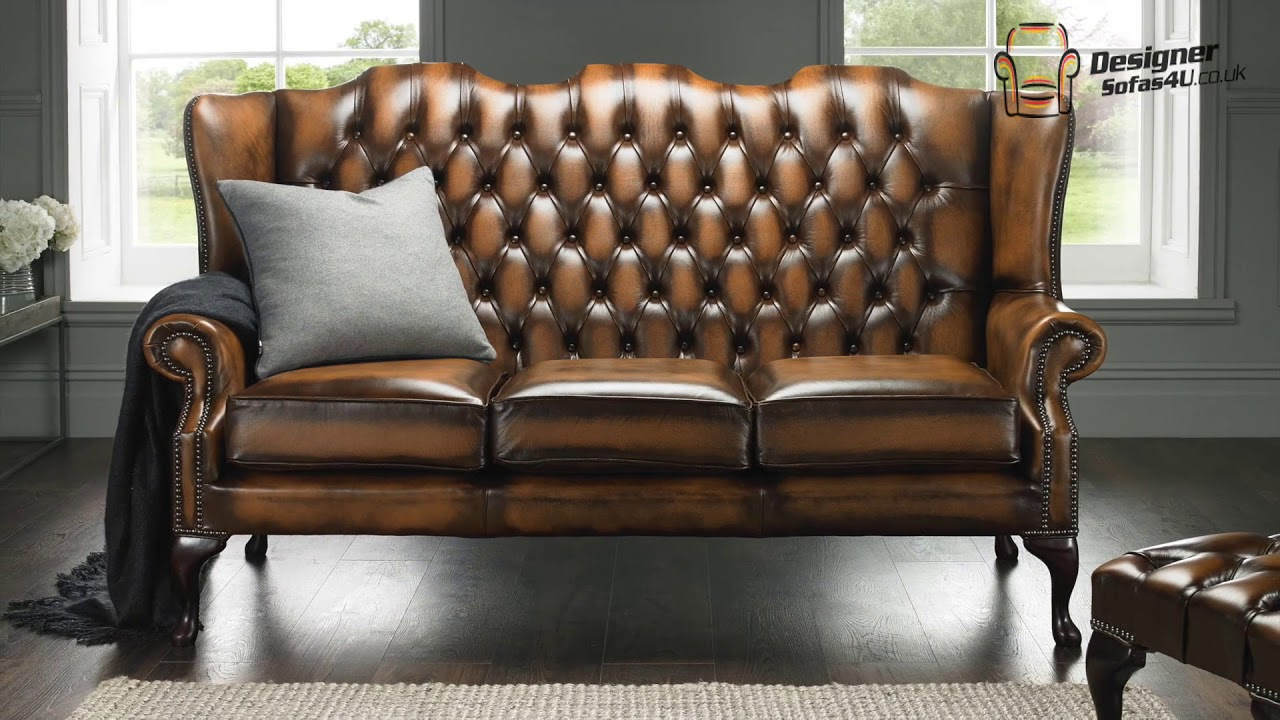 Gold Chesterfield High Back Sofa Designer Sofas 4u
