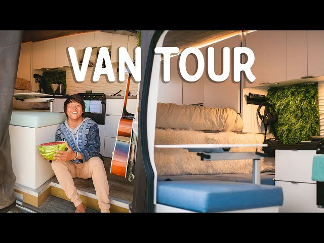 LUXURY STEALTH VAN TOUR // From corporate job to full-time travel