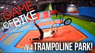 WORLDS FIRST GAME OF B.I.K.E ON A TRAMPOLINE??