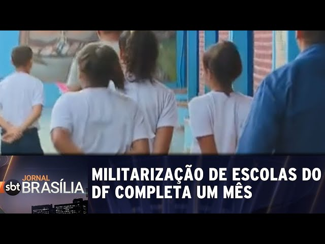 Militarização de escolas do DF completa um mês | Jornal SBT Brasília 11/03/2019