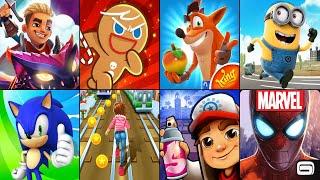 Blades of Brim,Cookie Run,Crash Bandicoot On the Run,Minion Rush,Sonic Dash,Subway Princess Runner