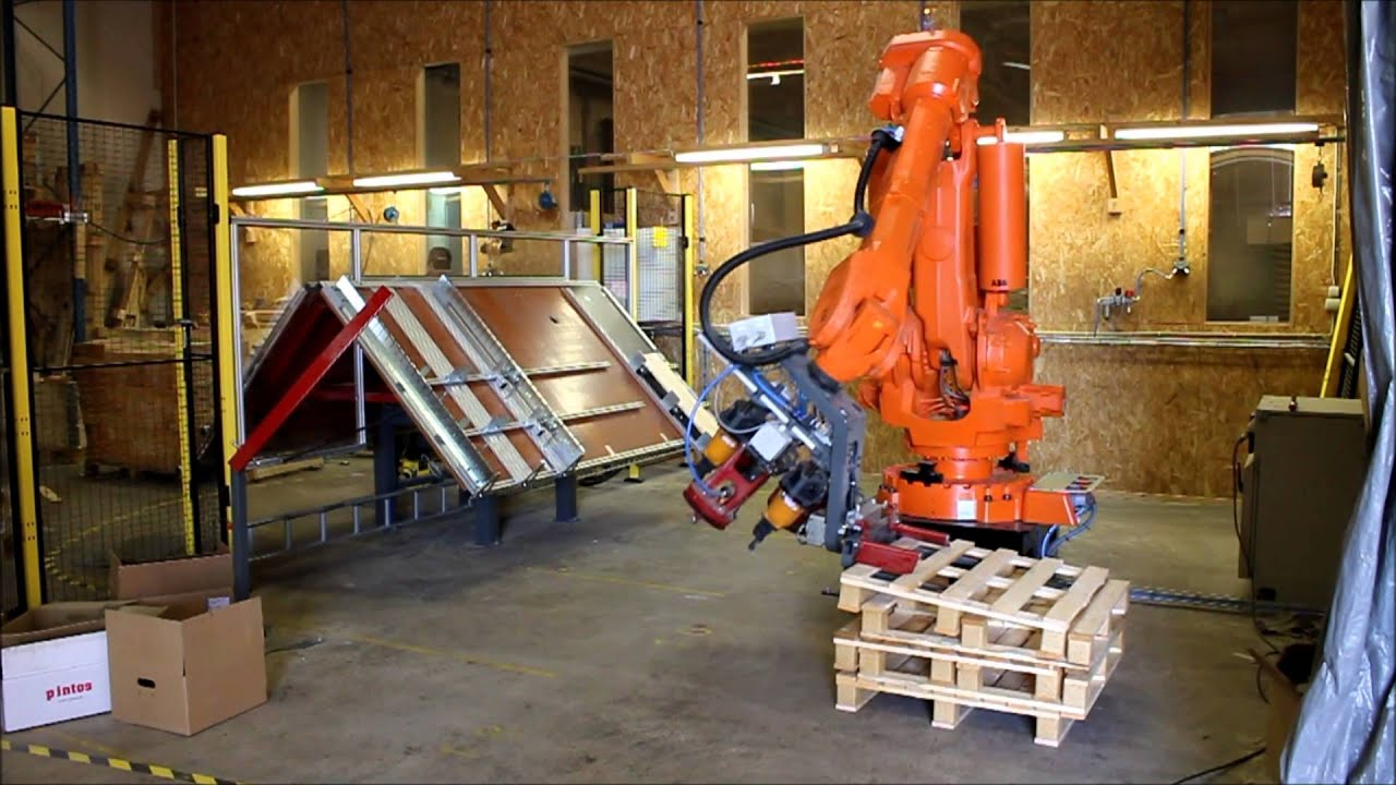 Ekatech Flexible Pallet Fixture Robot Nailing Youtube