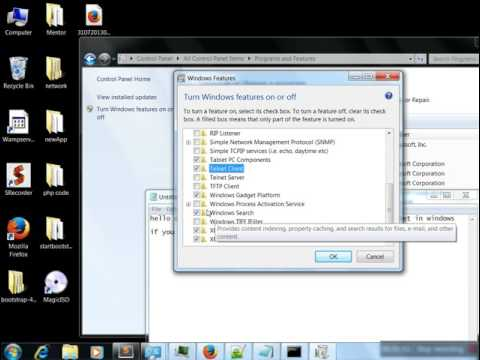 How To Turn On Telnet ( Client / Server) On Windows