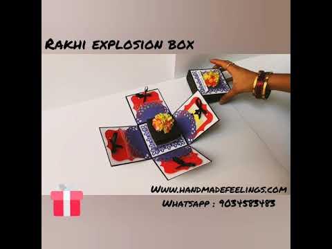 Rakhi Explosion Box- Handmade Feelings