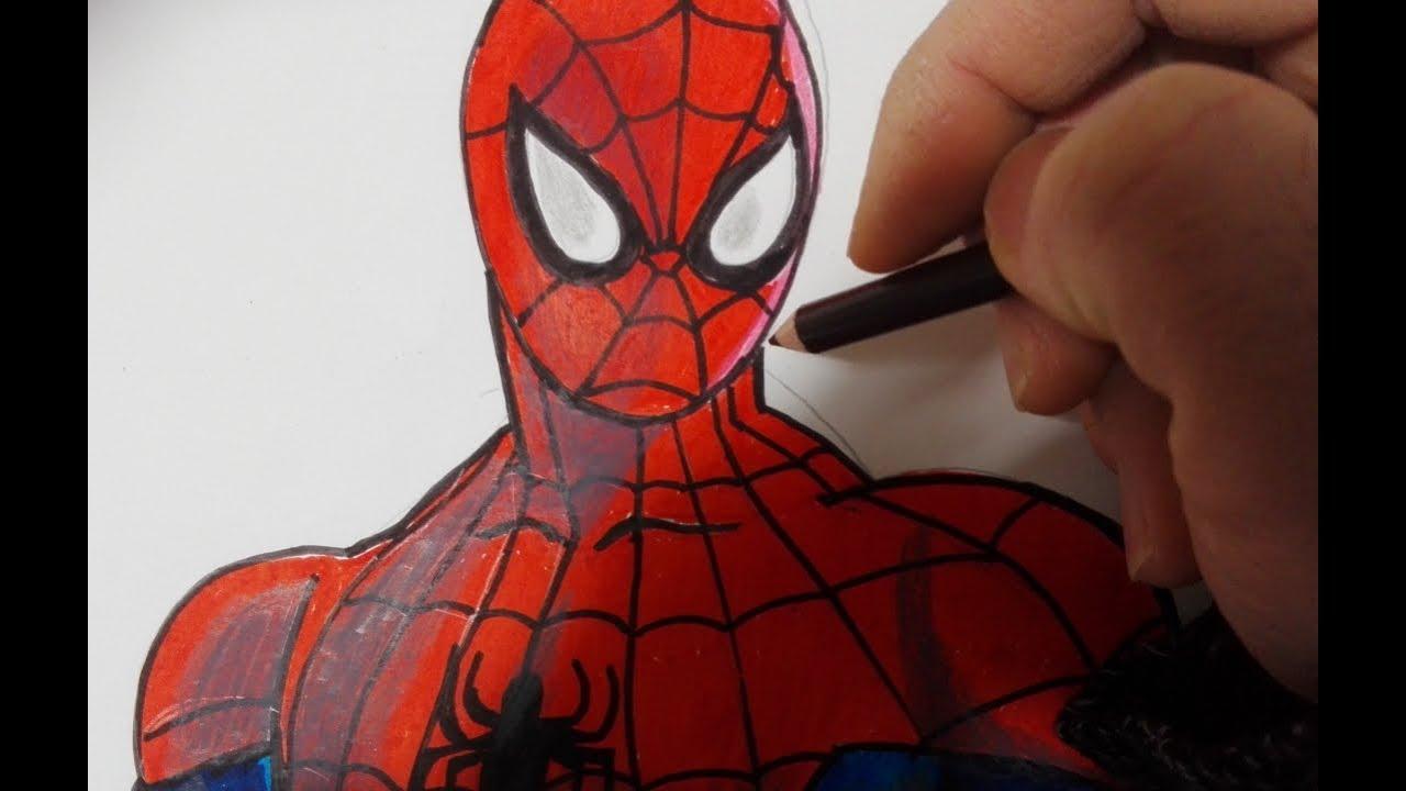 Come Disegnare E Colorare Spider Man Youtube