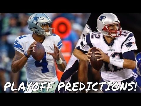 2017 NFL Playoffs Predictions - Super Bowl 51, AFC Championship, NFC Championship, and More!