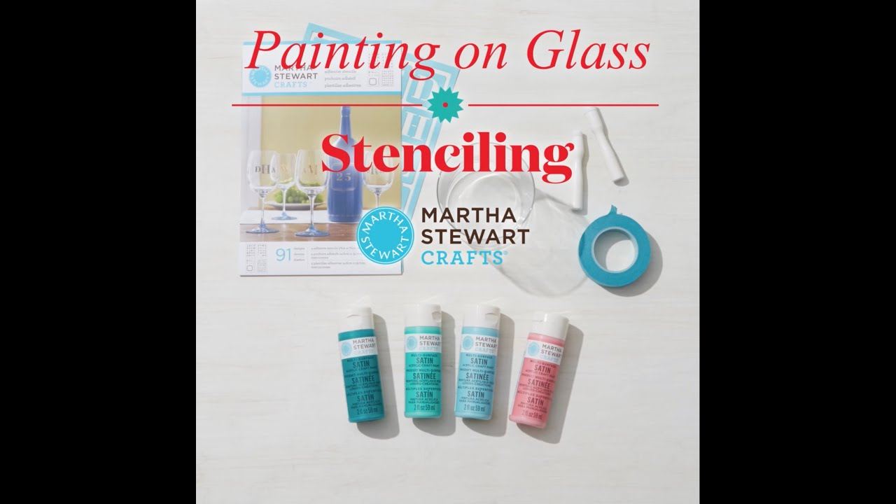 Relatively How to Stencil On Glass with Martha Stewart Crafts® - YouTube DL89
