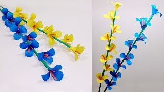 How to Make Beautiful Paper Stick Flower | DIY: Handcraft Ideas for Home | Jarine's Crafty Creation