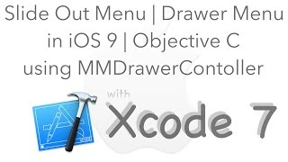 Slide Out Menu in iOS 9 (Drawer Menu) using Objective-C | MMDrawerController | Xcode 7