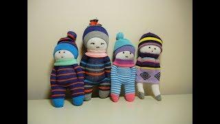 Cute Sock Dolls -- DIY Stuffed Toys -- Easy and Fast