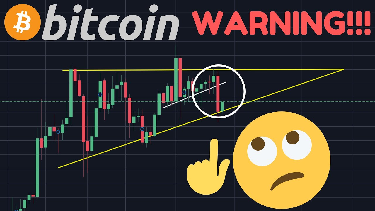 BITCOIN & STOCKS FALLING!!!!!!!! IS THE ASCENDING TRIANGLE DEAD? WAS I WRONG?!