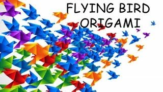 How To Make Flying Bird Origami