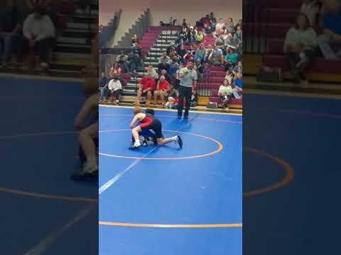 Bo Ice Jr 2nd match at Breckenridge Middle School