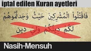 Geçersiz Kuran ayetleri (Nasih Mensuh)