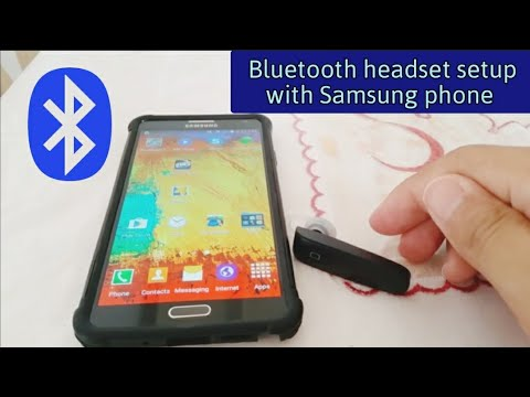 How to pair Bluetooth Headset to Android Phone (Samsung)