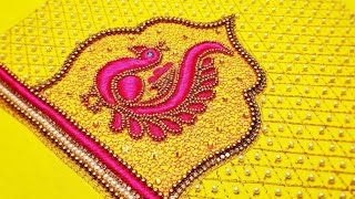 Blouse Design With Load Stitch | Aari Maggam Works |#75