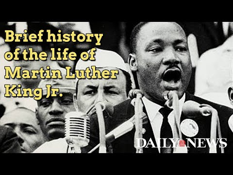 Brief timeline of the life of Dr. Martin Luther King Jr.