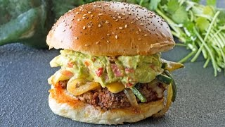 How to Make Queso Fundido Chorizo Hamburgers