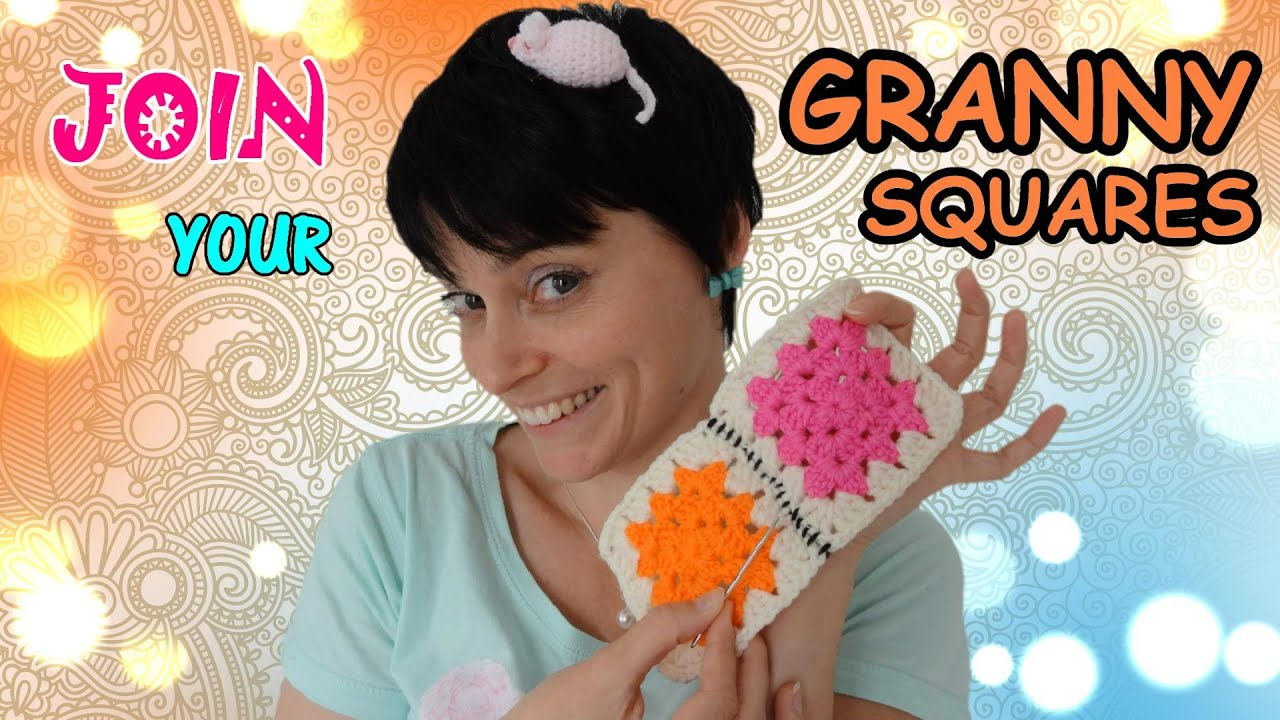 How To Join Granny Squares Easy Crochet Tutorial For