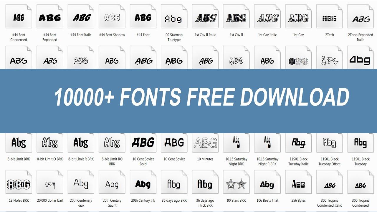 Download 10000+ Professional Fonts Pack Free Download |Urdu Hindi ...