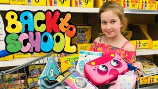 Back To School SHOPPING! Sisters Pretend PLay