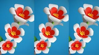 Paper Flower Stick 35 - DIY - Paper Craft - Handcraft/ Julia DATTA Crafts