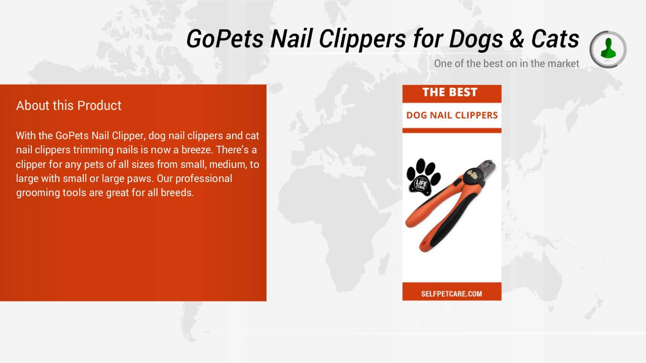 GoPets Nail Clippers for Dogs & Cats