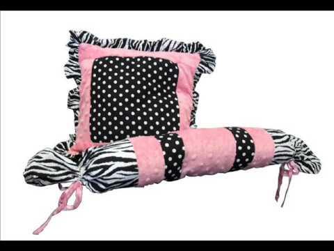 Custom Baby Bedding - Pink Minky Zebra 13 PCS Crib Bedding; Baby Bedding Custom