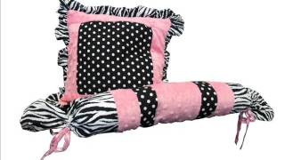 Custom Baby Bedding - Pink Minky Zebra 13 Pcs Crib Bedding; Baby Bedding Custom