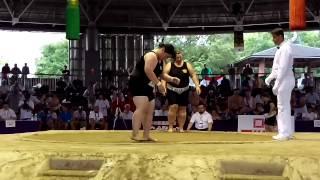 JPN VS RUS Zhigalova Women's Sumo 2015