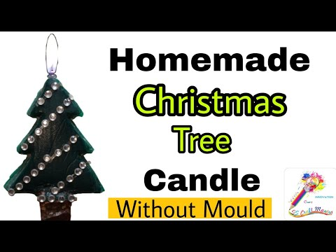 Homemade Christmas Tree Candle and Mould | Christmas Candle Making | SS Craft Mantra